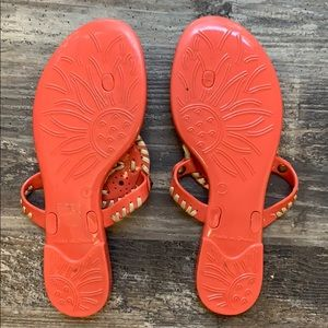 Jack Rogers Shoes - Jack Rogers Georgica Jelly Sandal, size 7 Coral